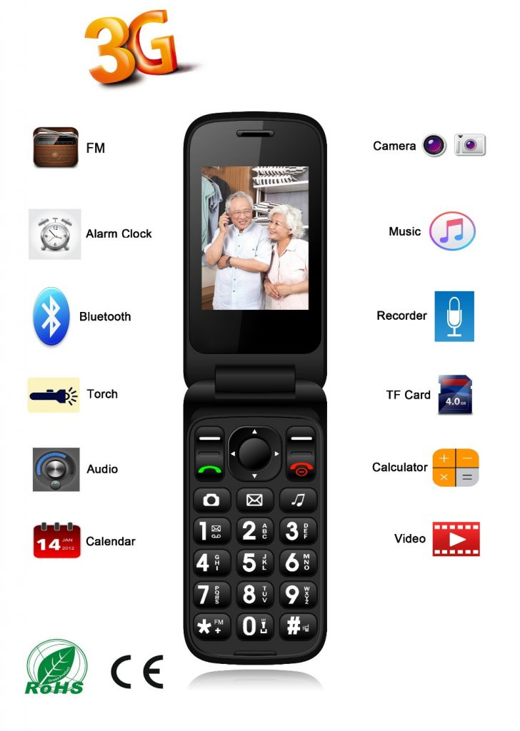 seniors mobile phone S20 Big button 3G